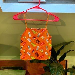 Orange Rugrats Cami Crop Top
